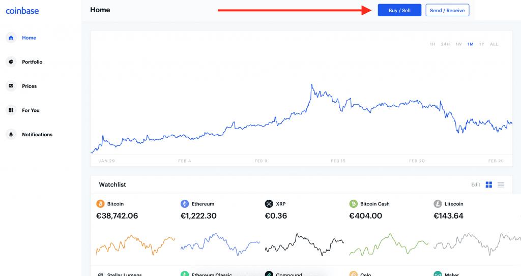 Nákup Bitcoinov na Coinbase